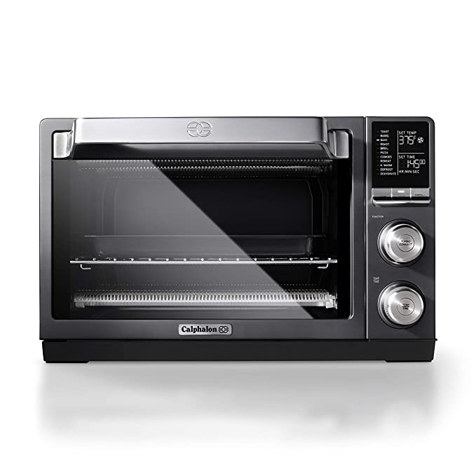 Calphalon Quartz Heat Countertop Toaster Oven, Dark Stainless Steel best toaster ovens