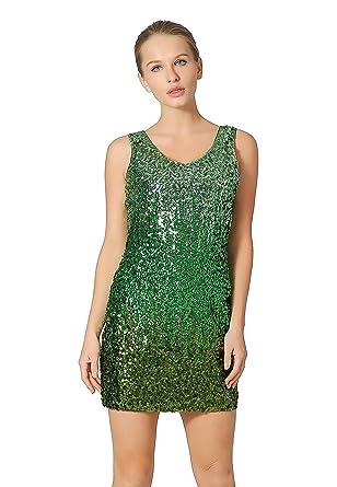 eec9d9bf Metme Women's Sexy V Neck Sleeveless Glitter Bodycon Dress Sparkle Shimmer  Sequins Party Midi Dresses Light