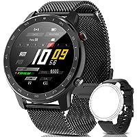 IYAQILEHE Smartwatch, Reloj Inteligente IP67 Pantalla Táctil Completa Pulsómetro Presión Arterial Monitor de Sueño 8…