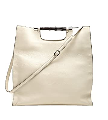 aa0028376af90 Image Unavailable. Image not available for. Color  Gucci Bamboo Daily  Leather Tote ...