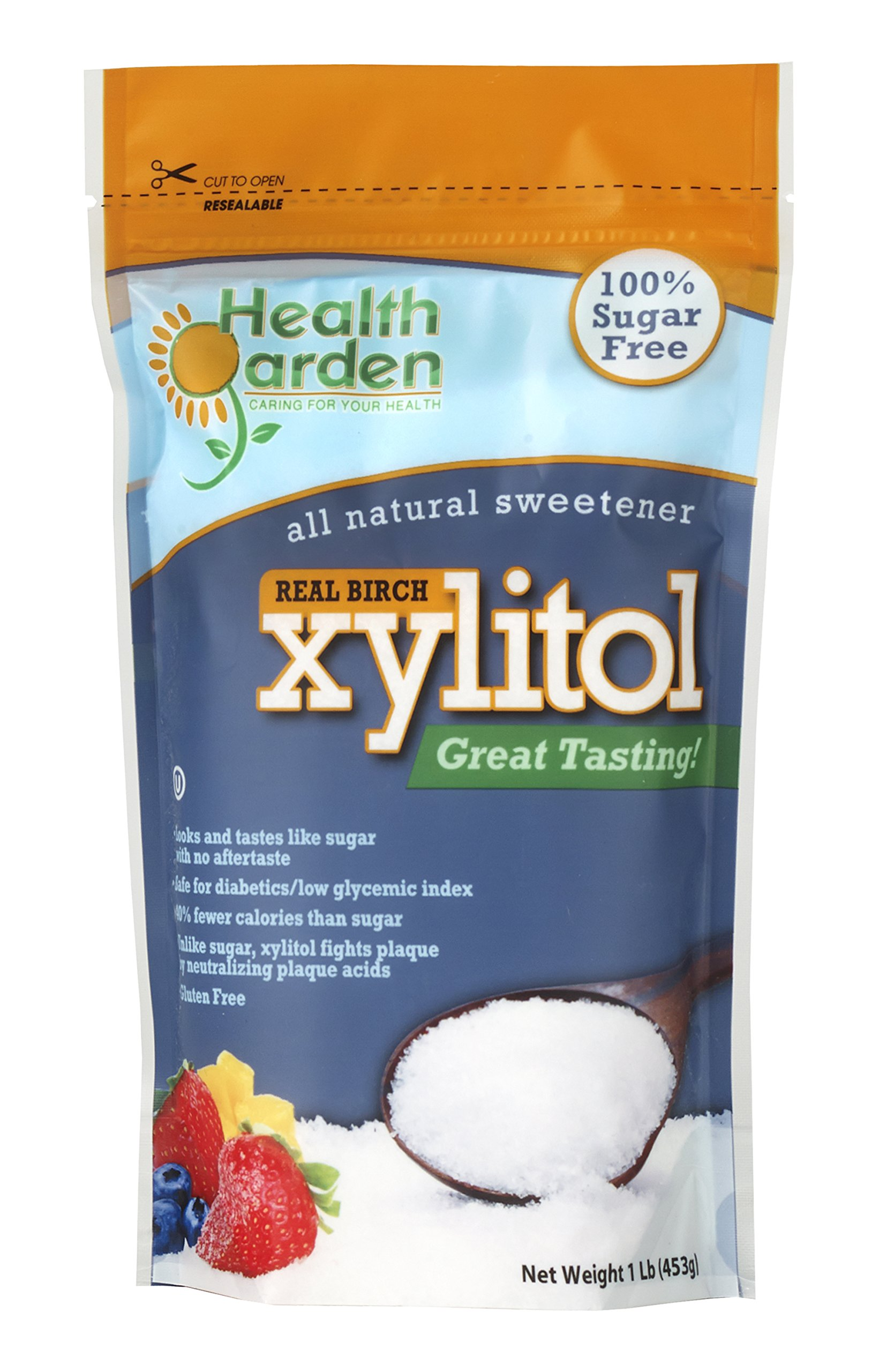 Health Garden Xylitol Sweetener, (Not from Corn (1 LB X 2) by HEALTH GARDEN