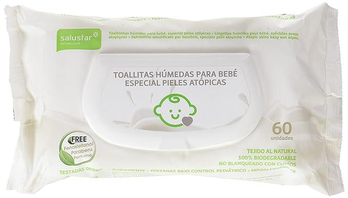 Salustar - Toallitas húmedas para bebés - Especial pieles atópicas - 60 unidades - [Pack de 14]: Amazon.es: Salud y cuidado personal