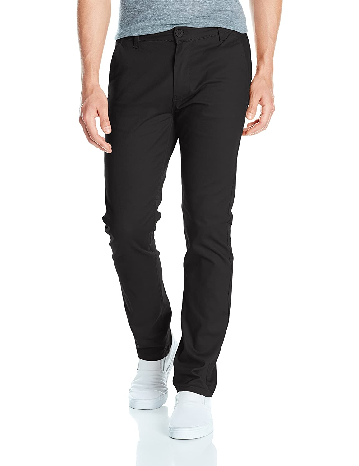 Southpole Men's Flex Stretch Basic Long Chino Pants, Black(New), 34X32