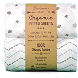 Guava Lotus Travel Crib Sheets (Set of 2) - 100% Organic Cotton Crib Sheets, Baby and Toddler, Fitted Crib Sheets, for…