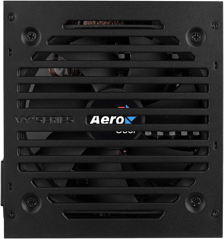 Aerocool VX Plus 550, Fuente de Alimentación Gaming para Pc, 1, Negro