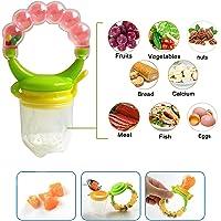 WISHKEY Silicone Food Nibbler for Fruit &Veggie, Infant Feeding Tool-BPA FreeTeething Toy