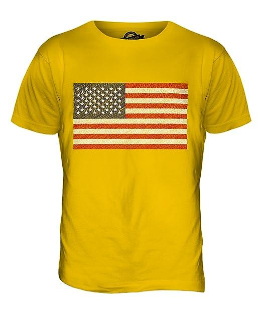 Candymix - USA Garabato Bandera - Camiseta Hombre Camiseta Top: Amazon.es: Ropa y accesorios