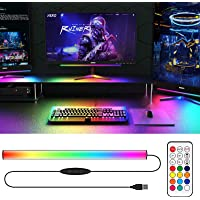 WILLED Under Monitor Light Bar, RGBIC Computer Lights with Multi Modes, 5V USB Powered Screenbar, Monitor Backlights…