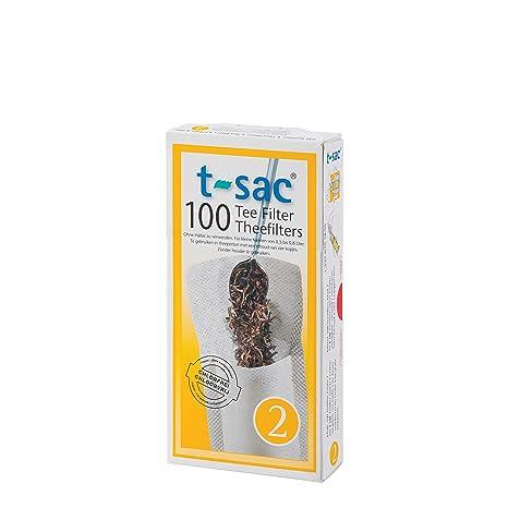 T-Sac - Bolsas con Filtro de Té - Blanco, 2-Tazas, 100 ...