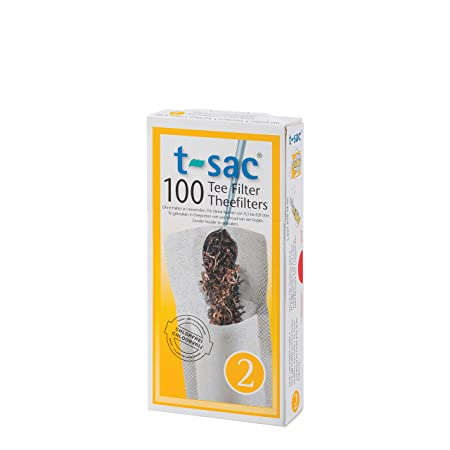 2-4 Cup Capacity 100pc Harold T-Sac Disposable Tea Filter Infuser Bags #2-Size