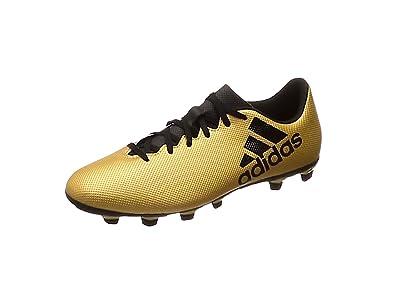 adidas Herren Buty X 17.4 Fxg CP9195 Fußballschuhe, Gold (Tactile Gold Met. F17/Core Black/Solar Red), 40 2/3 EU