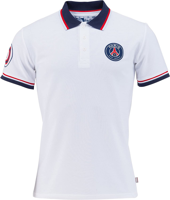 Polo Fan PSG blanco, París Saint-Germain Hombre, xx-large: Amazon ...