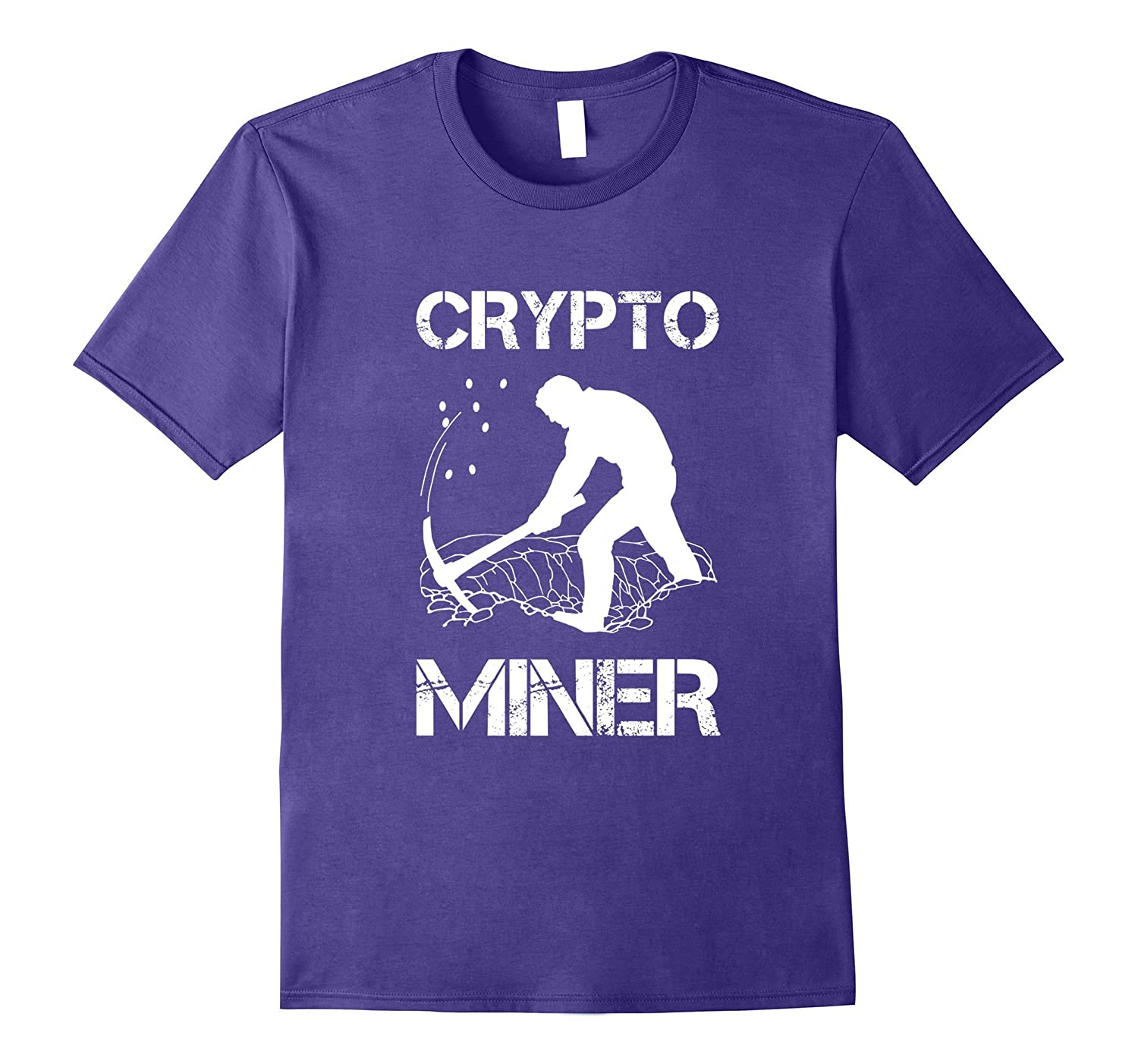 Crypto Miner - Funny Cryptocurrency Holder T-shirt-TJ