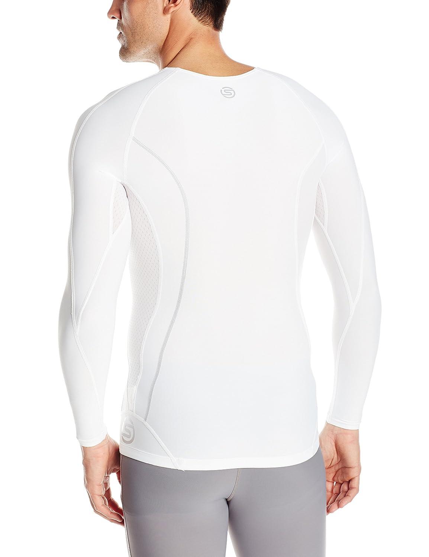 SKINS Mens DNAmic Mens Compression Long sleeve Top Skins North America DA99050059-P