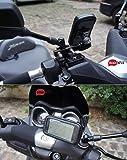 """BrainWizz® Support Métallique Fixation Moto / Scooter / Vélo avec étui Etanche pour iPhone 6 Plus/6S Plus (5,5"""") smartphones taille équivalente (77.8mm x 158.1mm)"""