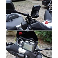 """BRAINWIZZ® Support Métallique Fixation Moto/Scooter / Vélo avec étui Etanche pour iPhone 6/6S (4,7"""") Smartphones Taille équivalente (135mm x 65mm)"""