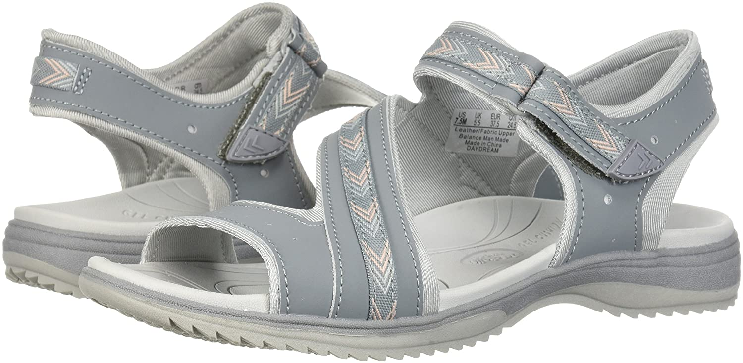 Dr. Scholl's Shoes Women's Daydream Slide Sandal B0767X6168 7 B(M) US|Monument Action Leather