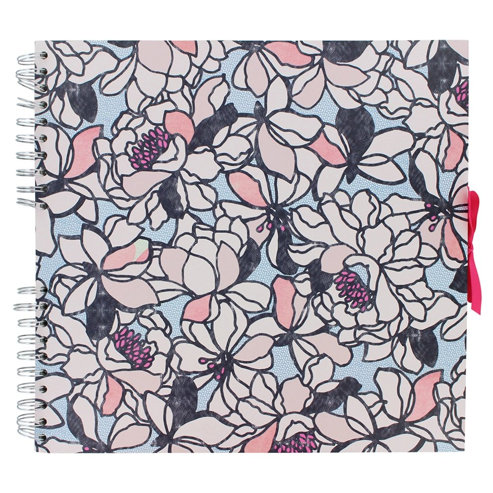 Coral floral large scrapbook Paperchase
