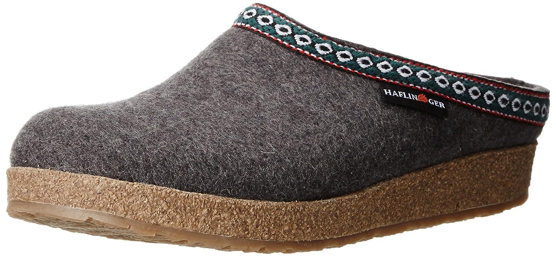 Haflinger 711001, Pantofole Uomo Grau (Anthrazit 4)