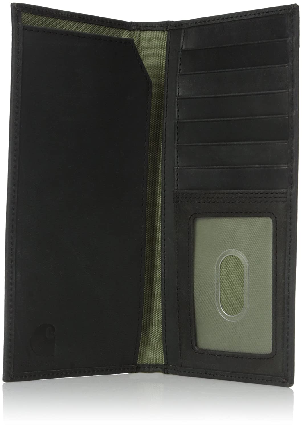5789ce83ffacb Carhartt Men s Top Grain Leather Rodeo Wallet, Contrasting Stitch, Black,  One Size at Amazon Men s Clothing store