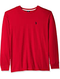 fb021132f U.S. Polo Assn. Men's Long Sleeve Crew Neck T-Shirt