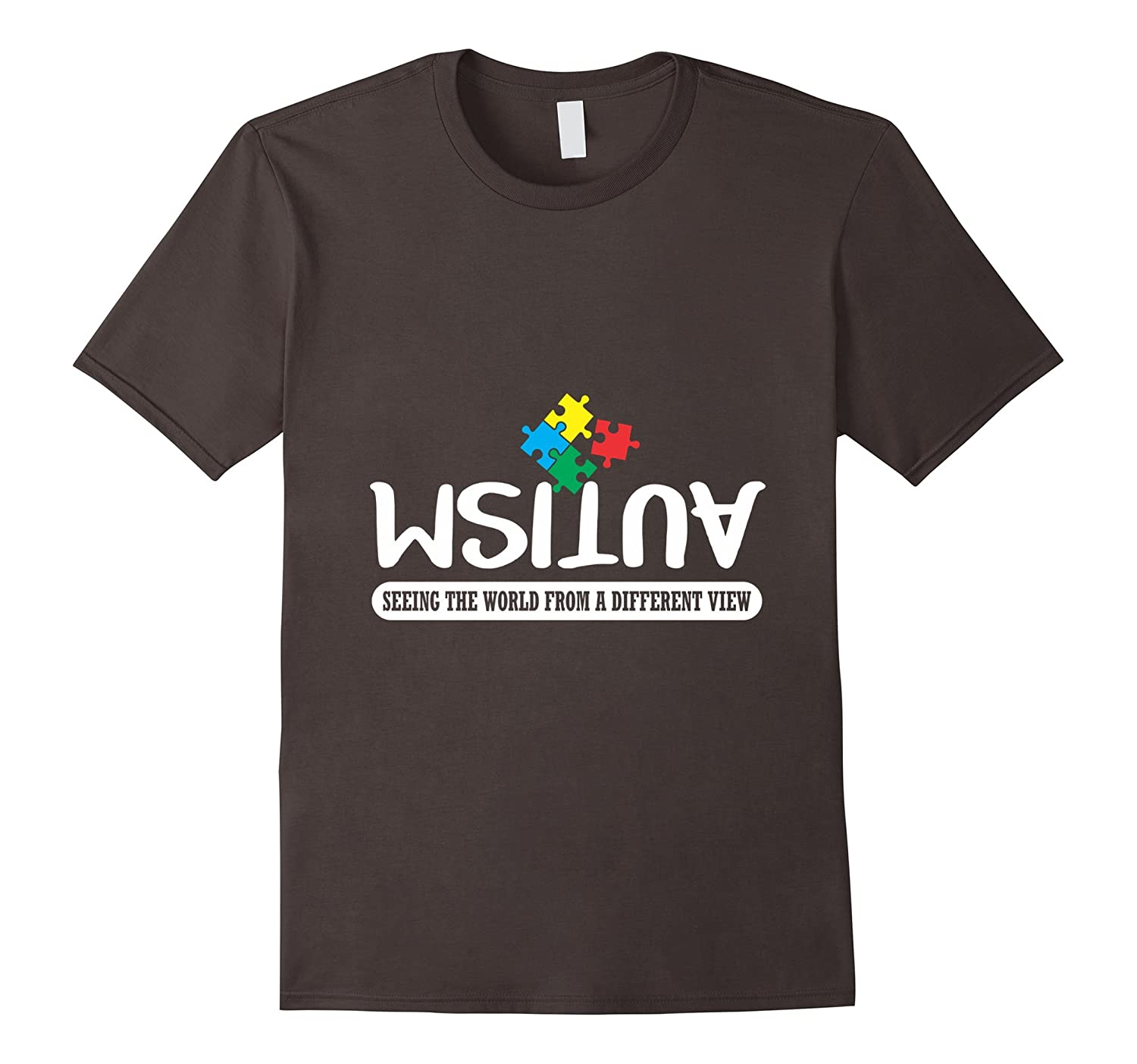 Seeing The World From A Different Angle Autism T-Shirt-TD