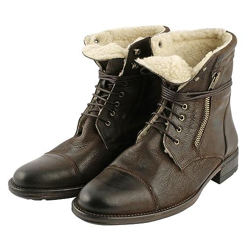 Exclusivo Paris Grundig, zapatos de hombre-Botines para hombre, Marrón (marrón), 39: Amazon.es: Zapatos y complementos
