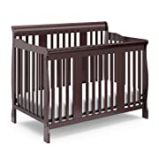 Storkcraft Tuscany 4-in-1 Convertible Crib, Espresso Easily Converts to Toddler Bed, Day Bed or Full Bed, 3 Position Adjustable Height Mattress