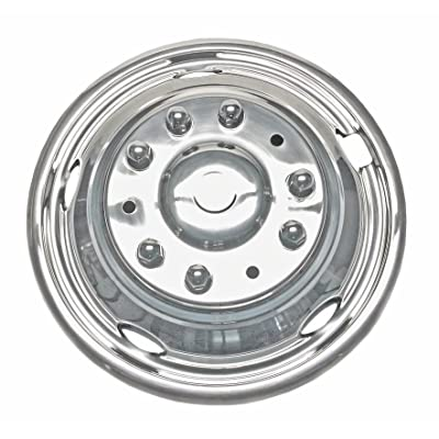 "Kaper II SS-29839ULT Polished Stainless Steel Ford Wheel Simulator Set (19.5"" x 6"", 10 Lug, 5 Hand Hole, Ford XL, Sd, F-450, F-550 XL Trucks, Sd, 04-Current, W/Pop-Off Front Hub): Automotive"