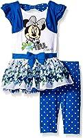 Disney Girls' 2 Piece Bow-Tiful Minnie Top and Legging Set