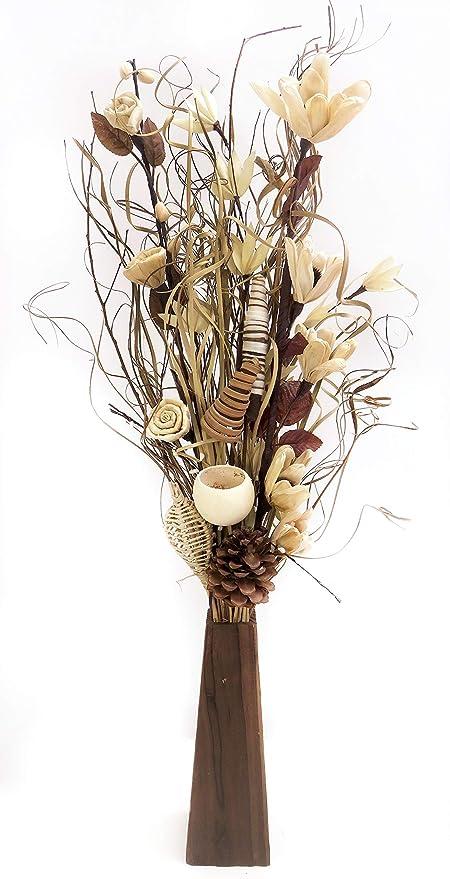 Cream And Chocolate Exotic Floral Arrangement Of Organic
