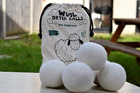 Bolas para secadora de lana sin blanquear, tamaño XL, 6 unidades ...
