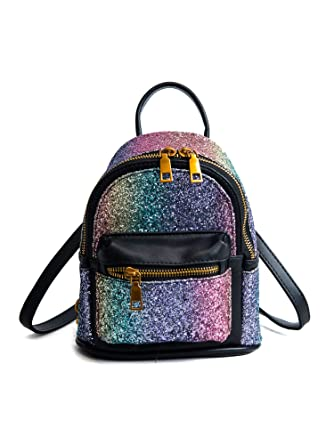 d6a889d15ab EPLAZA Women Girls Shining Backpack Convertible Shoulder Cross Purse Child  Travel Bag Daypack