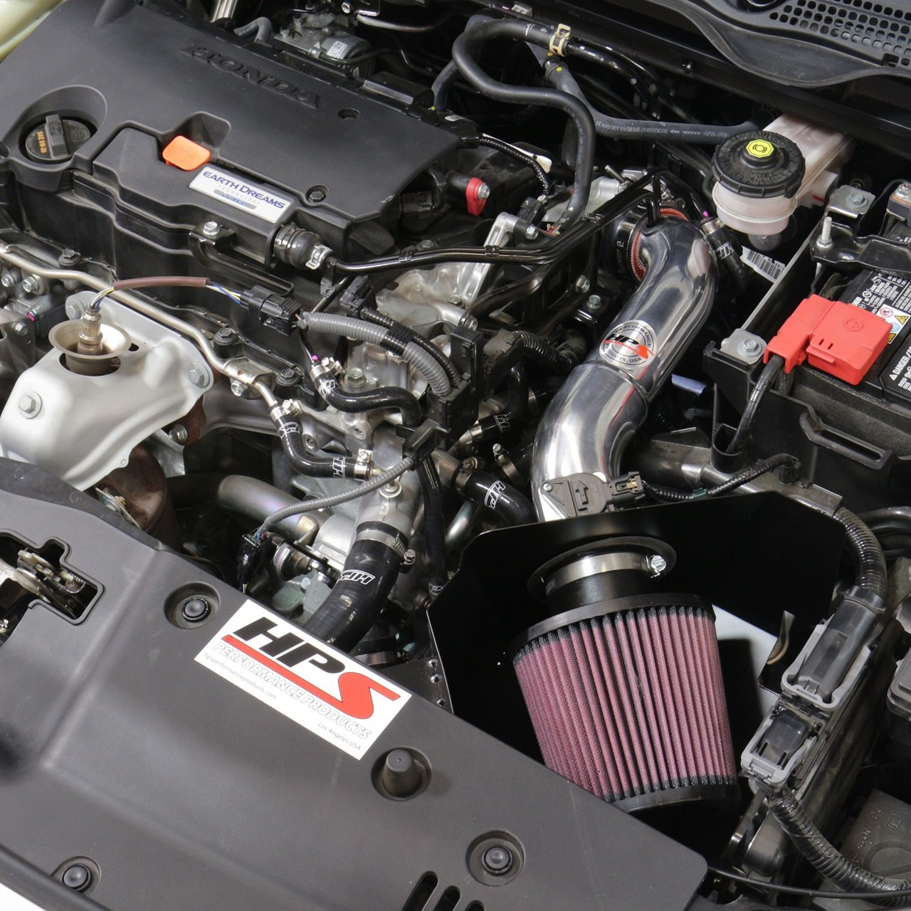 Amazon.com: HPS Blue Shortram Air Intake Kit + Heat Shield for 2016 2017 Honda Civic 2.0L Non Turbo 10th Gen: Automotive