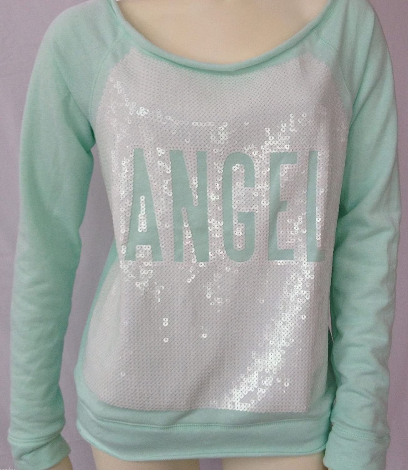 Amazon.com: Victorias Secret FASHION SHOW EXCLUSIVE Angel Mint Sequins Sweatshirt L: Sports & Outdoors