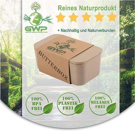 Green World Production Mantequera sin plástico y melamina de ...