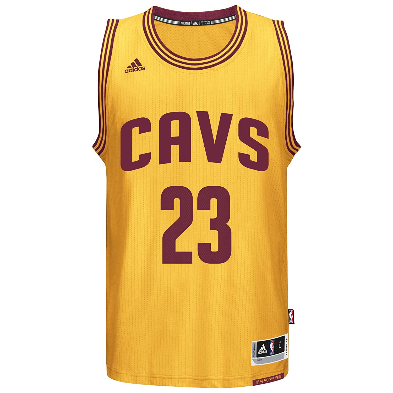 size 40 b1525 683fe adidas Lebron James Men's Gold Cleveland Cavaliers Swingman Jersey