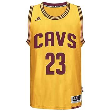 0d236a8d4e2 adidas LeBron James Men s Gold Cleveland Cavaliers Swingman Jersey Small