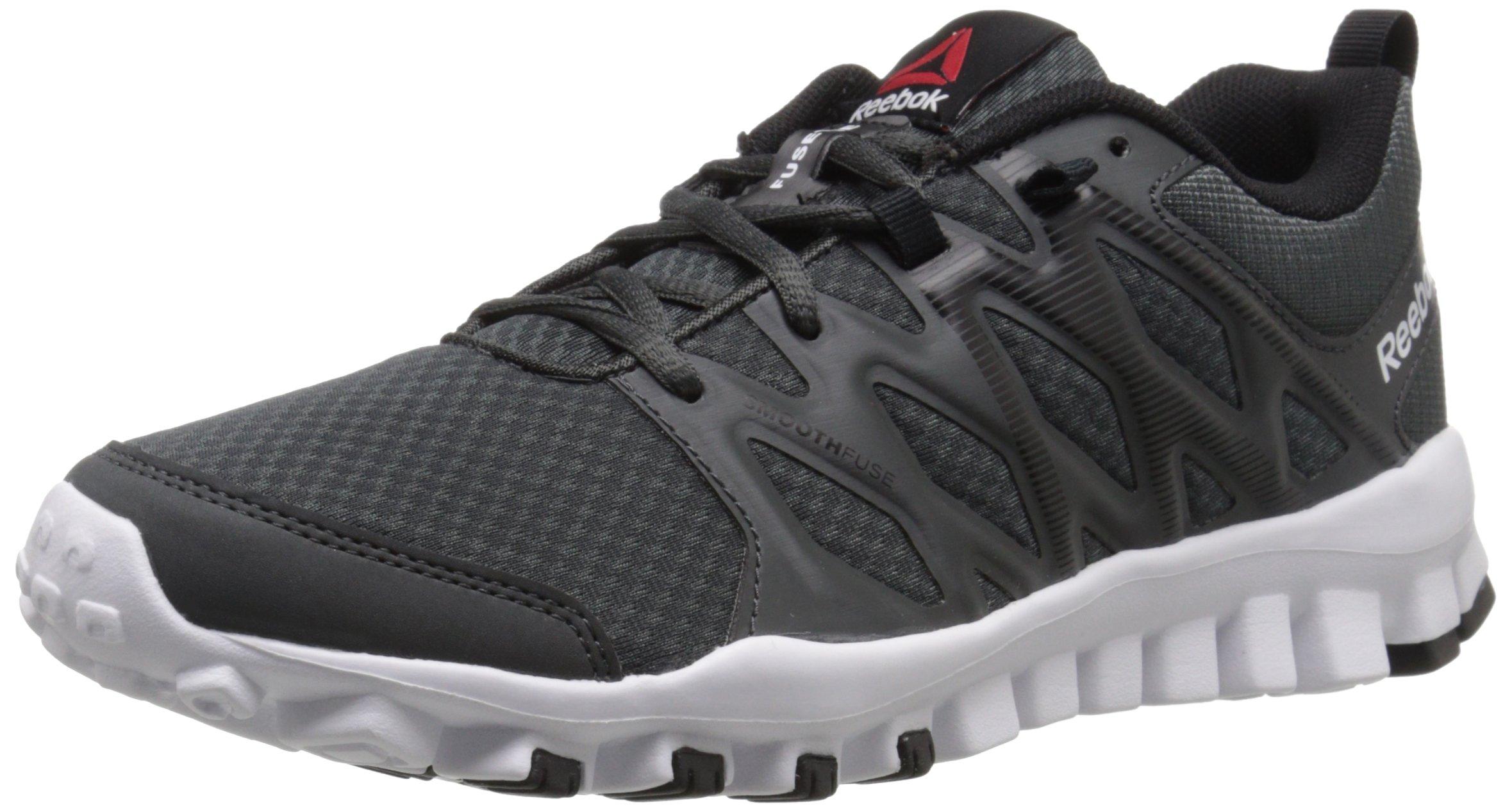 Reebok Women's Realflex 4.0 Training Shoe, Gravel/Black/White, 7 M US by Reebok