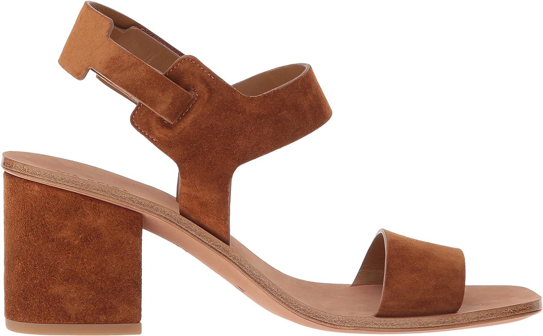 Via Spiga Kamille Block Heel Sandal, Talon Femme Saddle Suede