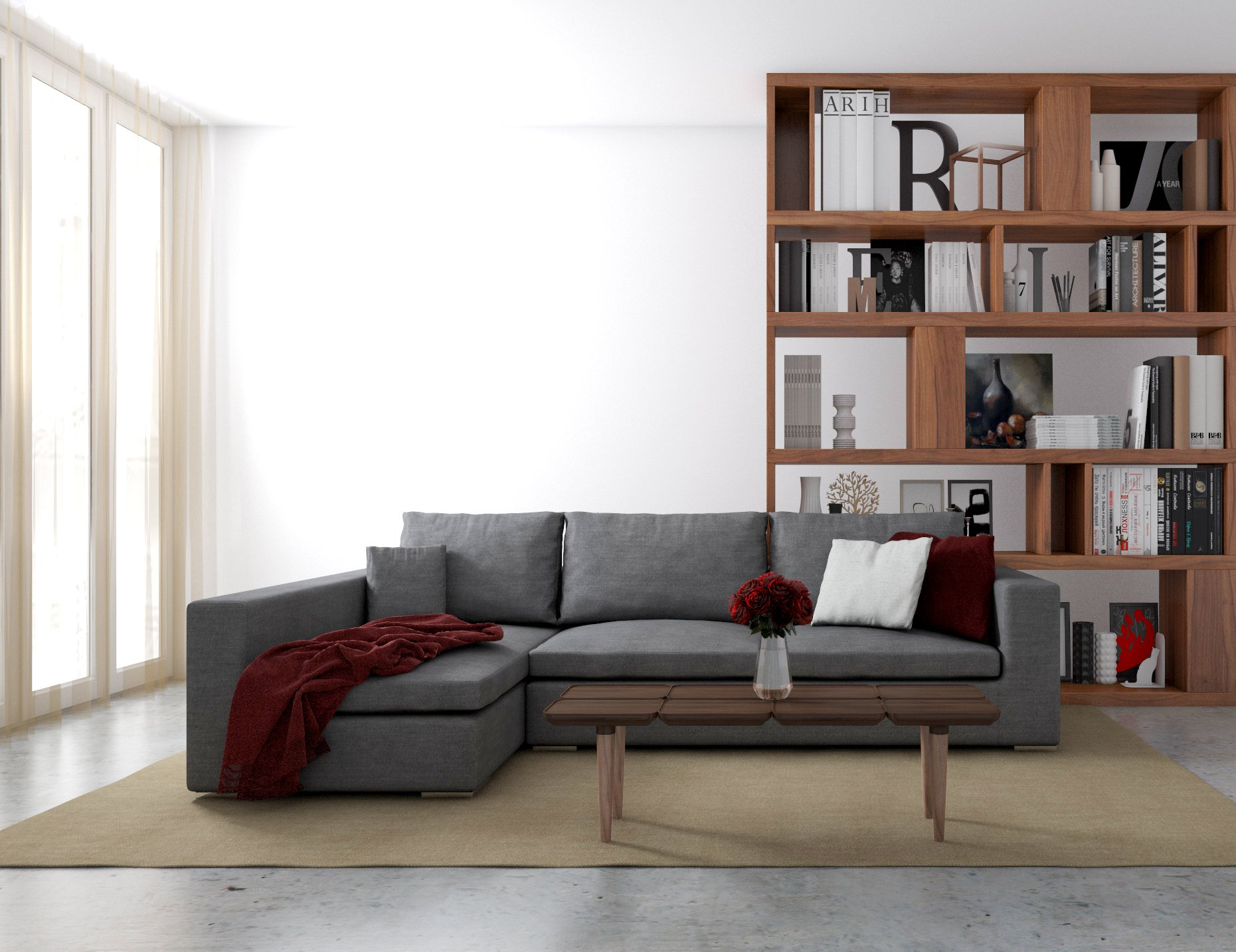 KMP Furniture Coleen Sectional Sofa & Right Chaise Lounge - White - Highly detailed upholstery and precisely stitched. Fade resistant fabric. High-density resiliency foam seats and back with sturdy spring system. - sofas-couches, living-room-furniture, living-room - 81WxQrXj39L -
