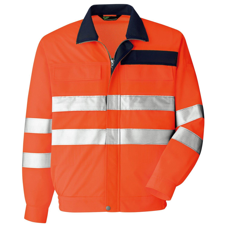 [ミドリ安全] 作業服 春夏 高視認 長袖ブルゾン B07FH7LF56 M|オレンジ オレンジ M