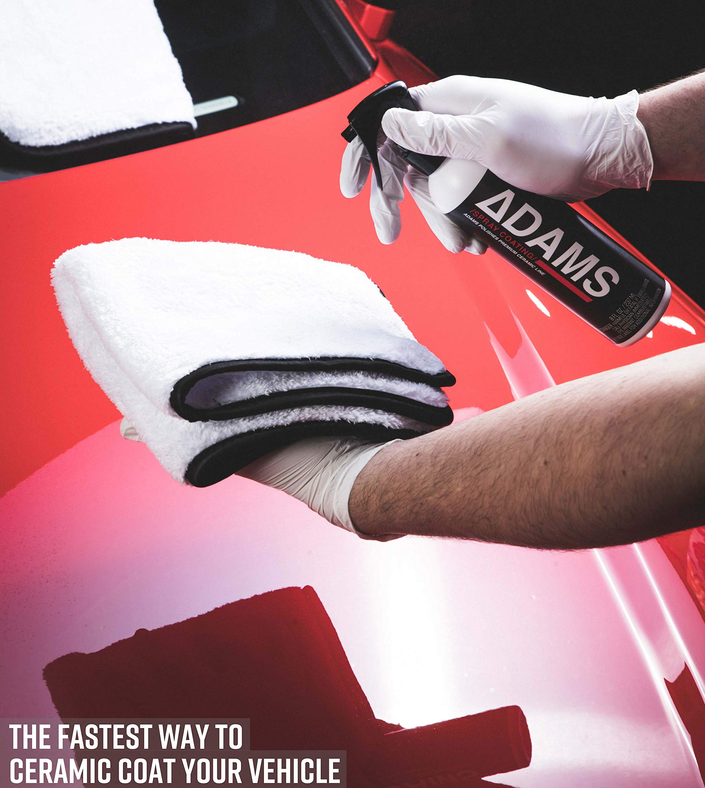 Adam's Ceramic Spray Coating 8 oz Complete Kit - A True Nano Ceramic Protection for Car, Boat & Motorcycle Paint - Top Coat Polish Sealant After Clay Bar, Polishing & Detail Car Wash (Complete Kit) by Adam's Polishes (Image #3)