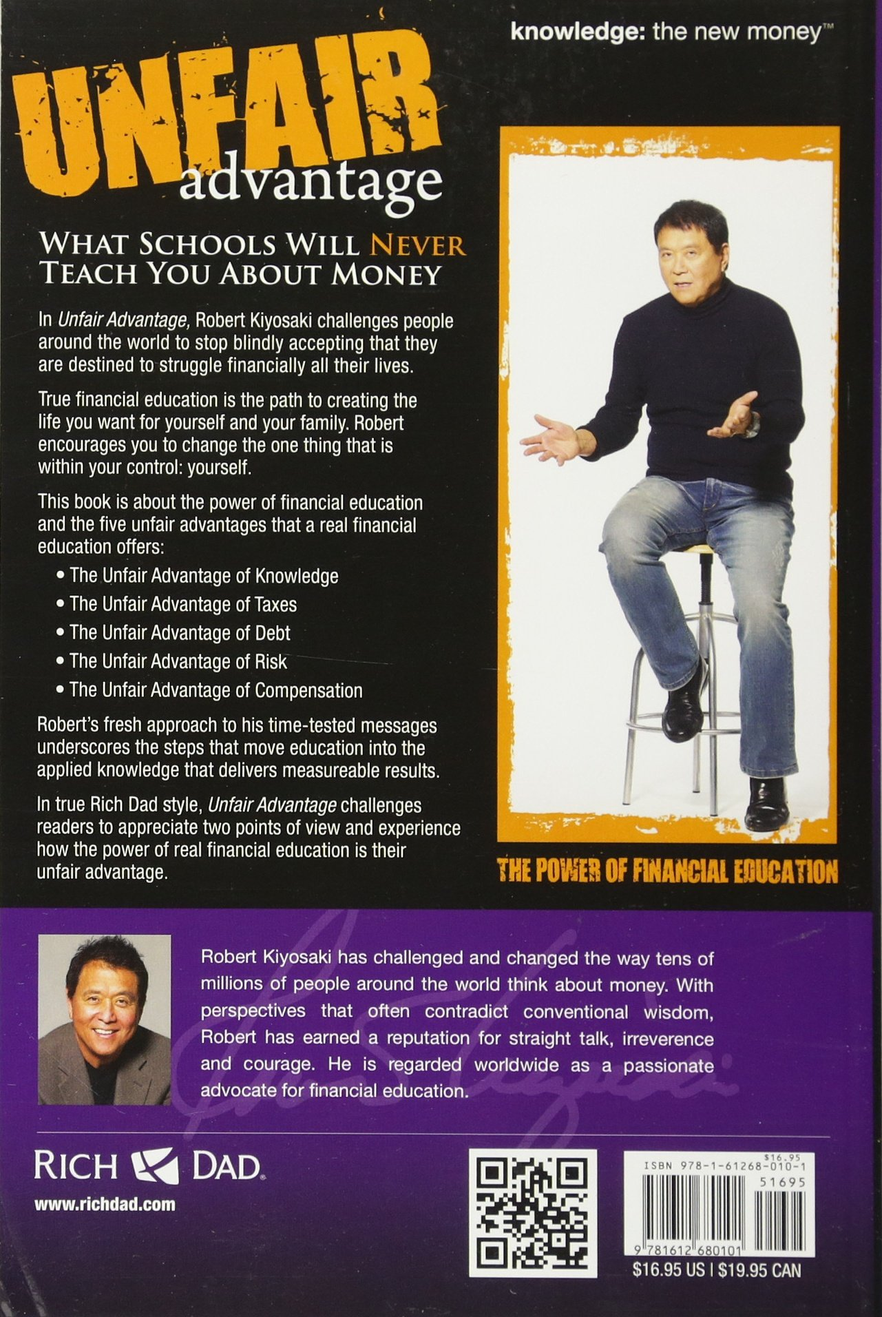 Unfair Advantage The Power Of Financial Education Robert T