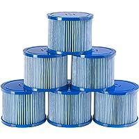 Arebos Zwembadfilter | 6 x filterpatronen Spa whirlpools | antimicrobiële filter | blauw