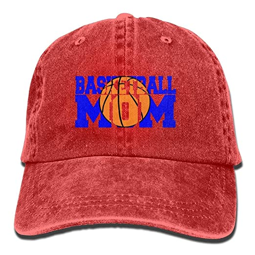 hongwenjy Unisex Adult Basketball Mom Sports Washed Denim Cotton ... 65c98fbbaae