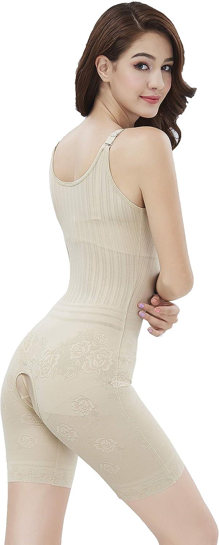 Amhillras Damen Shapewear Body Stark Formend Bauch Weg Miederhosen Figurformend Bodysuit Formende Body Shaper