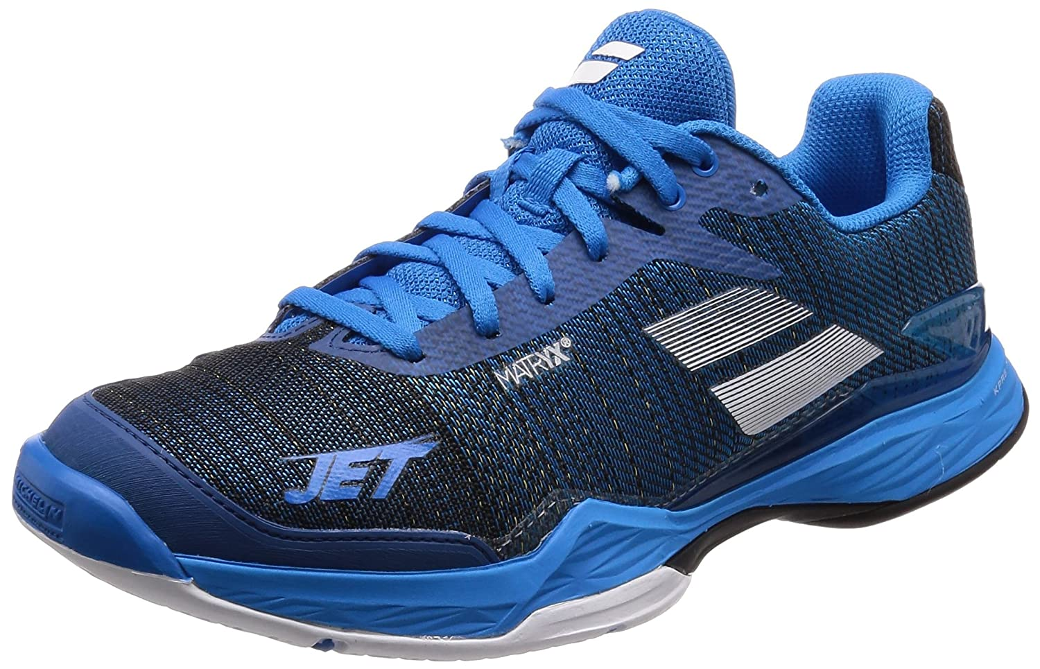 Babolat Jet Mach II Mens Tennis Shoes Blue/Black B079GYK3L8 8 D(M) US|Blue