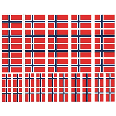 40 Removable Stickers: Norway Flag, Norwegian Party Favors, Decals: Toys & Games