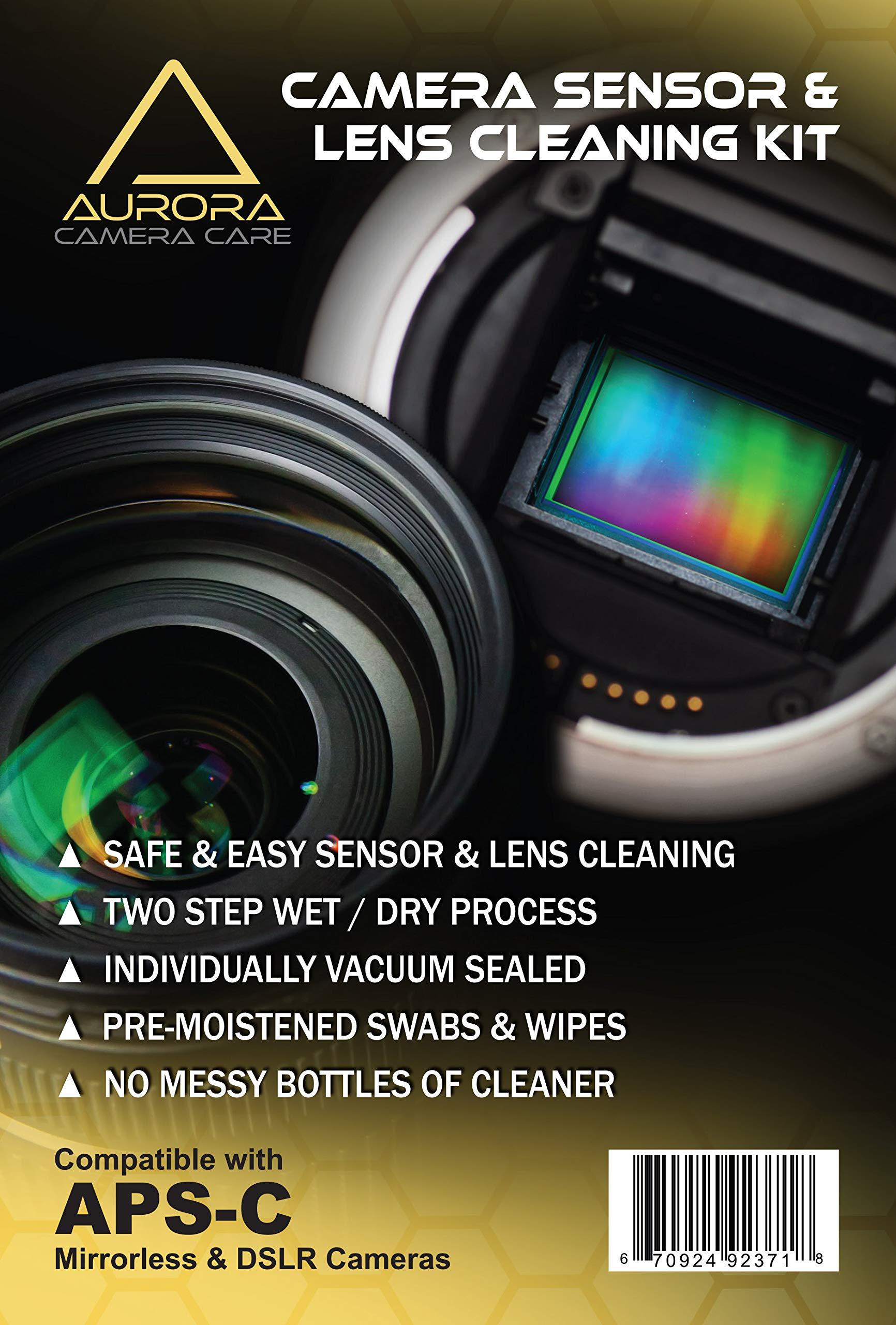 Aurora Camera Care Camera Sensor & Lens Cleaning Kit (APS-C) by Aurora Camera Care